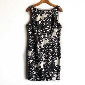 Ann Taylor sheath dress with exposed side zipper